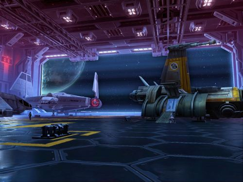 A shuttle bay, there are many of these