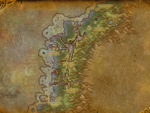 Darkshore's length