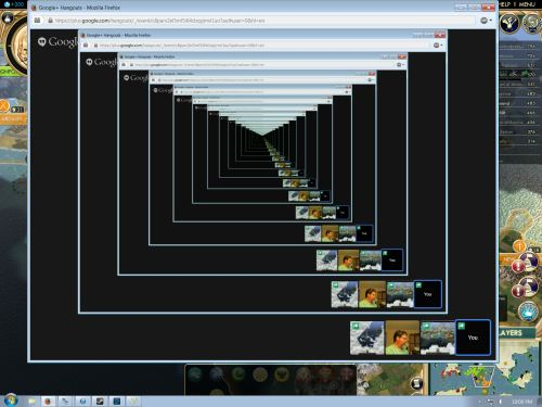 The Infinite Google Hangout