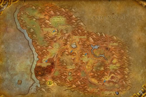 Stonetalon Mountains, in case you need a map...