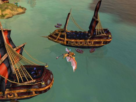 On a pirate bombing run