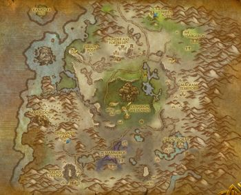 Desolace Map