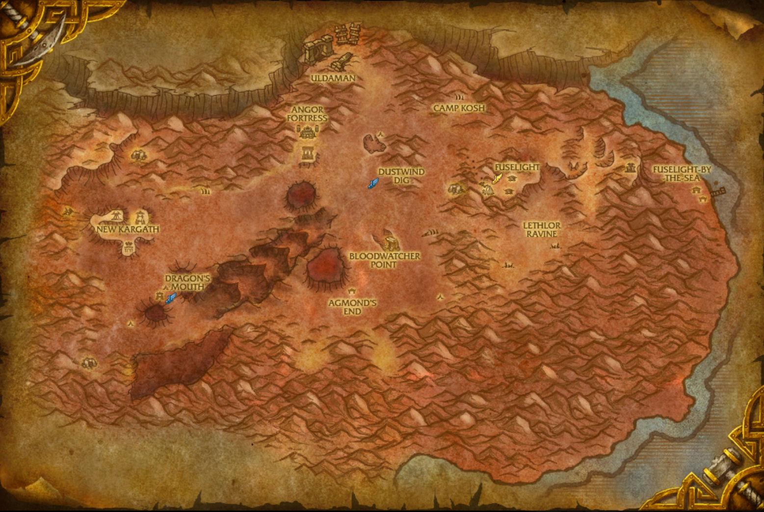 Wow Eastern Kingdoms Map iah terminal map map of miami florida