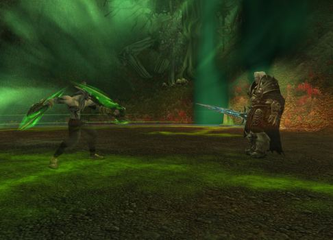 Illidan and Arthas meet...
