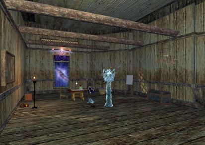 Sigwerd's Freeport inn room, trophies on the wall