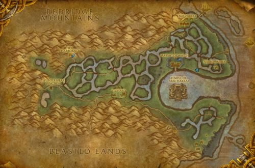 Swamp of Sorrows map