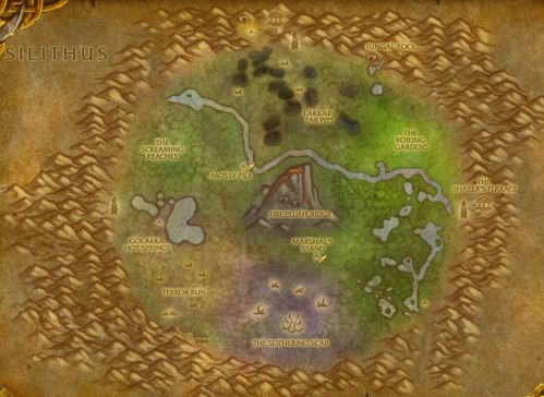 Un'goro Crater map