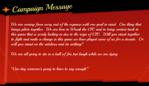 Battlement Campaign Message