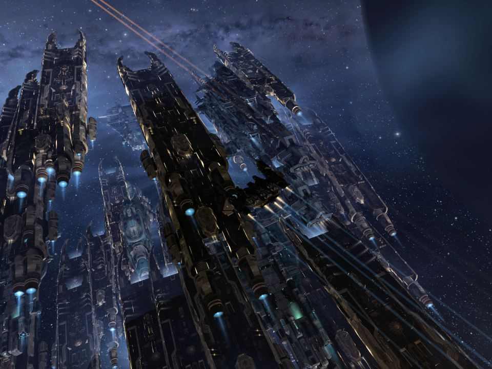 Carriers undocking to join the fight
