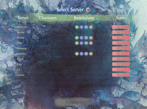 All servers queued, some with restrictions