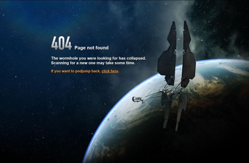 The EVE Online 404 error page
