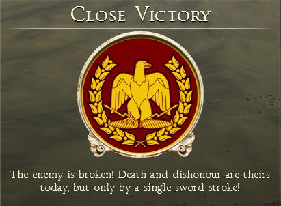 But a victory, right?