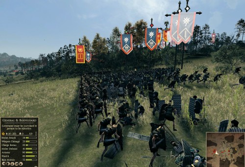 Legionaries stand against the hoard