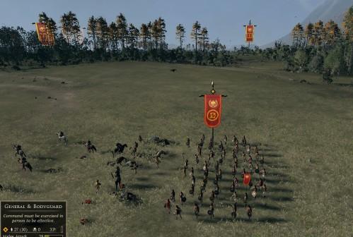 Cavalry sent flying...