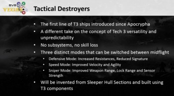 Tech 3 Destroyers