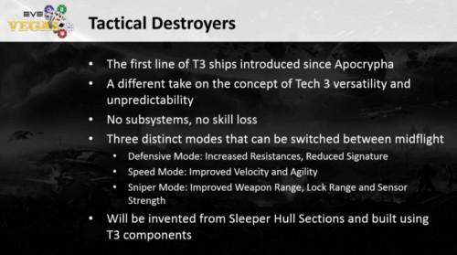 Tech 3 Destroyers
