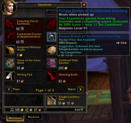 What WoW needs! Exp potions!