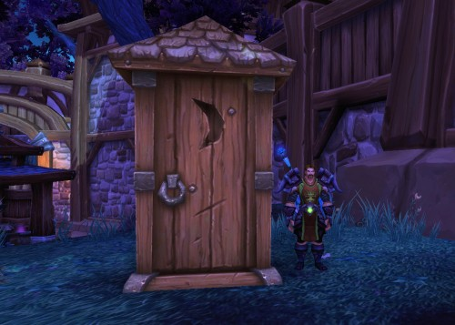 The garrison outhouse
