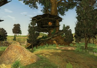 The goblin tree house. A quest mob lived up there.