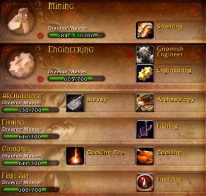 Vikund's Various Professions