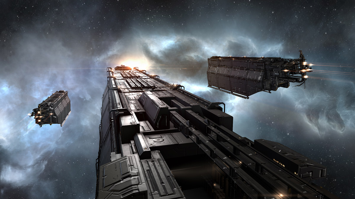 Logistics scene from EVE Online