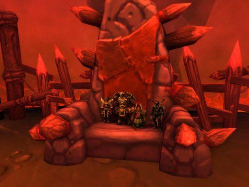 Standing in Gur'gokk's chair
