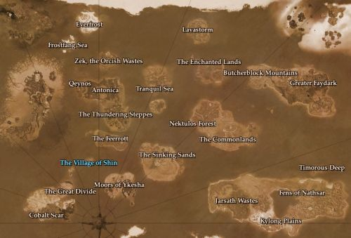 The map of place, most below my level now...