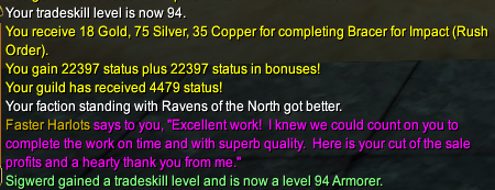 Level 94 and a pile of status