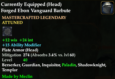 Not an astounding helm