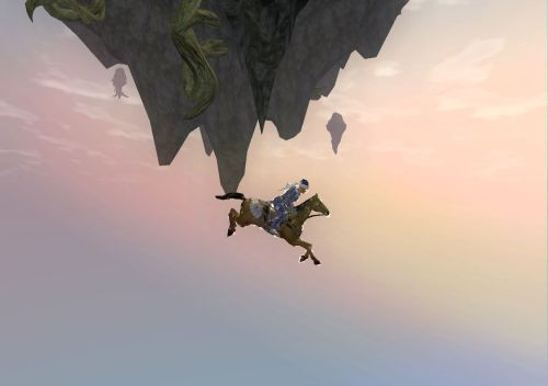 Okay, I fell off the edge a couple times... mounts are too fast
