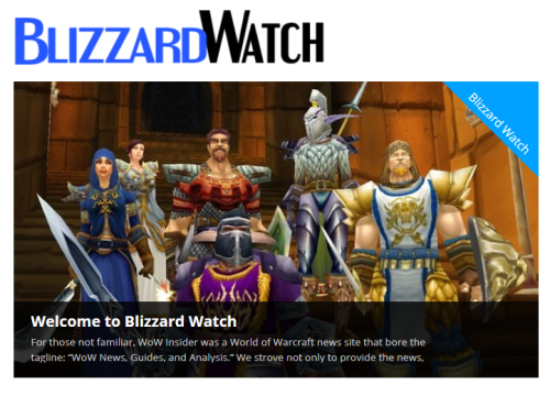 Blizzard Watch open for business