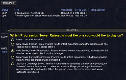 Progression Server Polling...