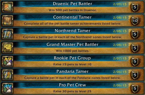Yes, all those pet battle achievements in a row...