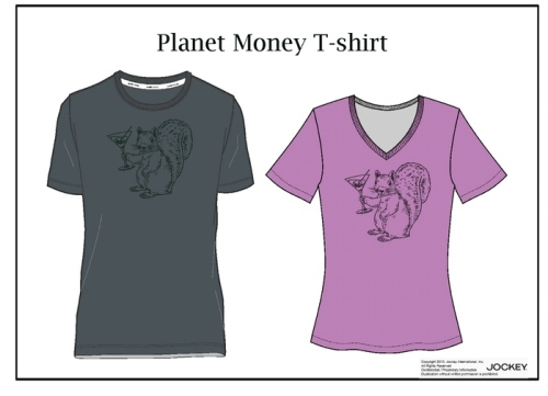 Men's and women's versions of the shirt