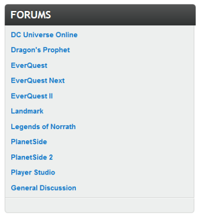 No H1Z1 forums for you!