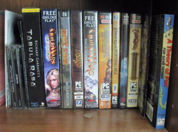 MMO Boxes on my shelf