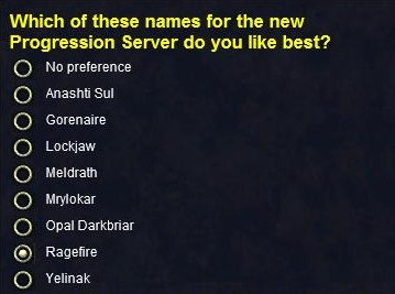 Name choices