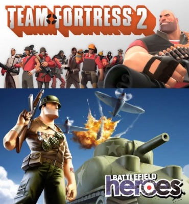 TF2 and Battlefield Heroes explore the square jaw...
