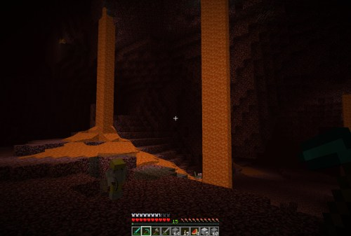 In the nether for a bit