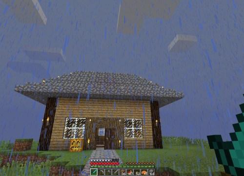 Rain at the house