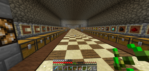 And here we have the ore room...