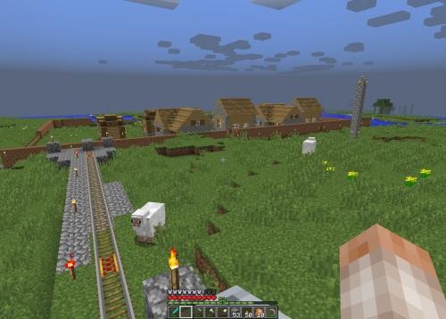 Arriving at the village station