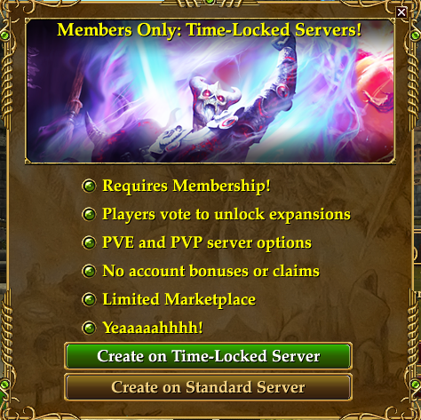 EverQuest II Time Locked Expansion Servers Today | The Ancient