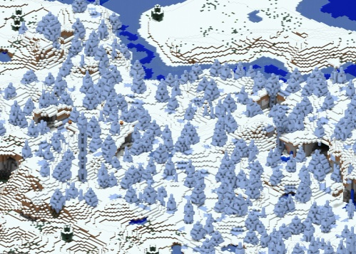 Ice spikes on the map