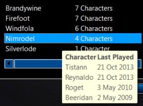 Nimrodel Characters