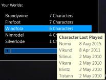 Windfola Characters