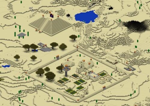 Desert village...