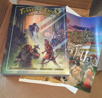 Tunnels & Trolls Deluxe just out of the shipping box...