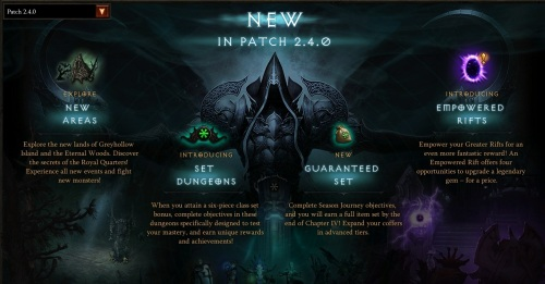 Diablo III - Patch 2.4.0 highlights