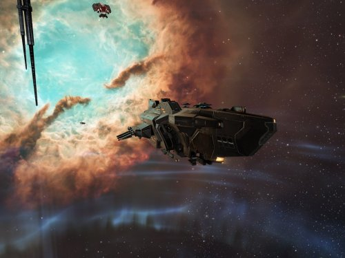 Caldari Stork command destroyer lurking